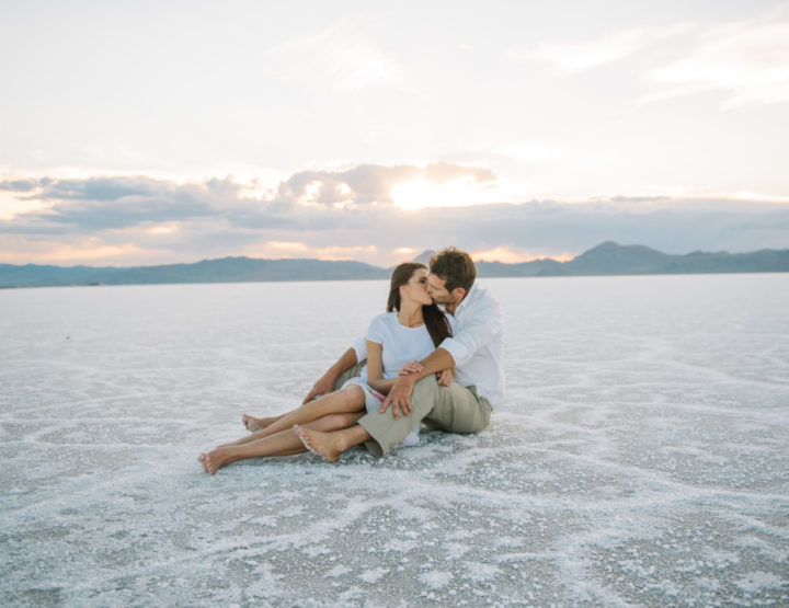 Aaron & Christina | Utah Salt Flats Engagement Photographer