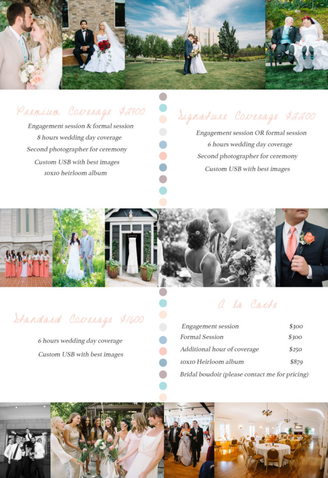 New Wedding Pricing 2015