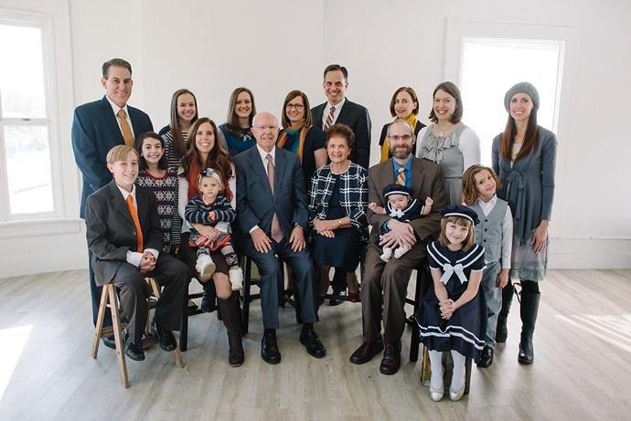 Utah Salt Lake Extended Family Studio Photographer 001